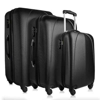 Zestaw walizek podróżnych kółkach bagaż BETLEWSKI