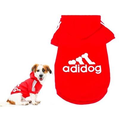 Mikina ADIDOG pre mačky pre DOG RED 3XL