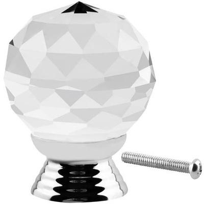 Kryształowy Uchwyt do Mebli Gałka Kryształowa 30mm
