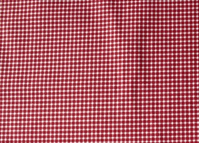 tkanina bawełna drukowana CZERWONA KRATKA KRATECZK