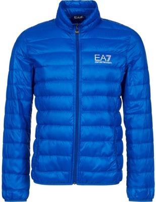 EMPORIO ARMANI EA7 włoska kurtka pikowana BLUE S