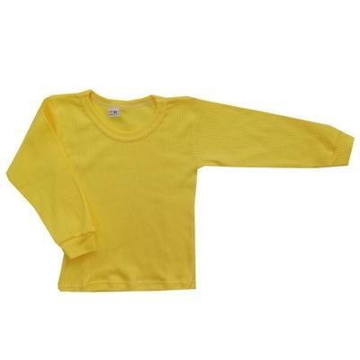Wyprzedaż ! Koszulka długi rękaw 134 cm Żółta