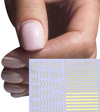 Naklejki paski tasiemka na paznokcie do zdobień