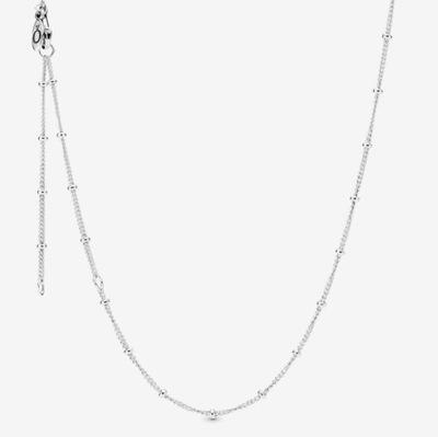 Naszyjnik łańcuszek z koralikami ala Pandora