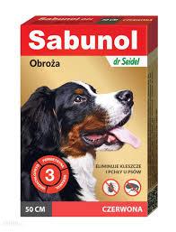 воротник БЛОХИ КЛЕЩИ красная Собака 50 см Сабунола