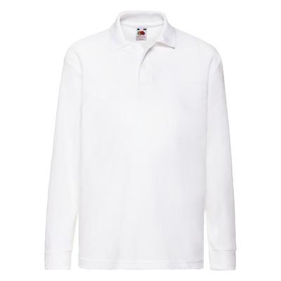Koszulka Polo dziecięca długa Fruit Biały 7-8