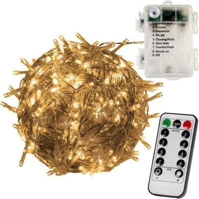 огни елочные 100 ДИОДОВ LED батареи + пульт