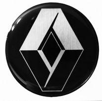 EMBLEMAT LOGO ZNACZEK SREBRNE-CHROM 3D Renault 60'