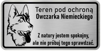 Примечание Собака табличка с инфо. Овчарка немецкий