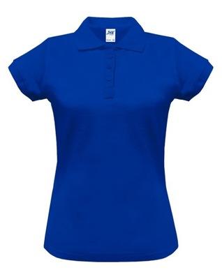 Koszulka Polo Damska JHK Polówka niebieska S