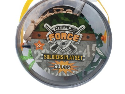 FIGURKI ATTACK FORCE SOLDIERS PLAYSET 90 PCS