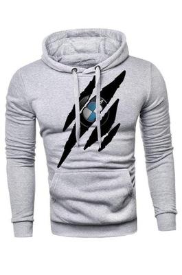 Bluza kangurka drapane logo BMW rozmiar L