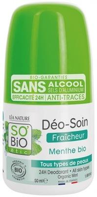Dezodorant roll-on organiczny z MIĘTĄ So'Bio