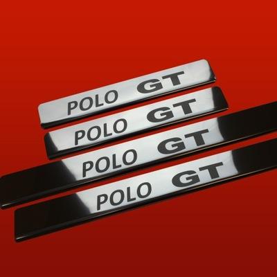 НАКЛАДКИ НА ПОРОГИ БЛЕСК VW POLO MK5 6R POLO GT