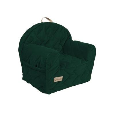 Fotelik Fotel z pianki dla dziecka VELVET zieleń