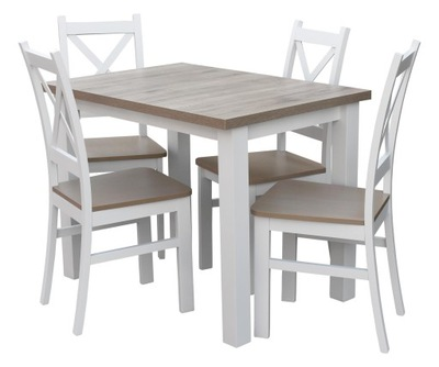 стол 4, стулья Белый пепельный ??? столовой Z054