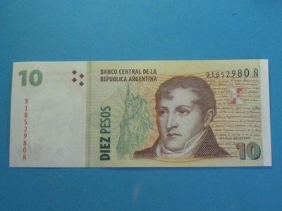 Argentyna Banknot 10 Pesos 2003/2014 UNC P-354