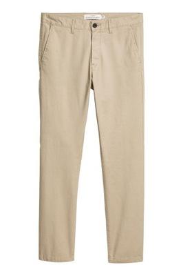 Duże Spodnie chinos Skinny fit H&M r.42