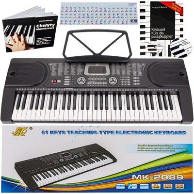 KEYBOARD Pianino Organy MK-2089 61klaw KURS CD