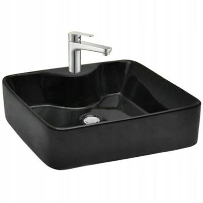 Keramické umývadlo na dosku Kelly Black Black