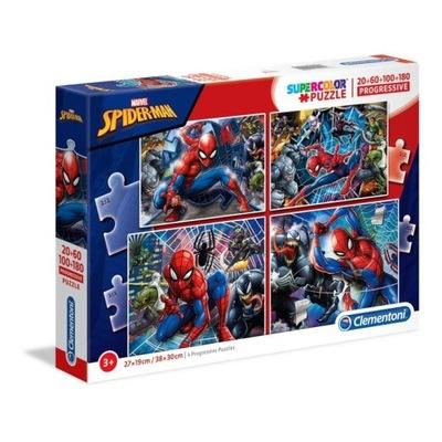 Puzzle 20+60+100+180el SUPER KOLOR SpiderMan 21410