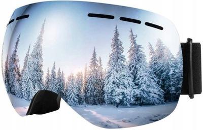 Gogle narciarskie BFULL OTG szerokie 100% UV400