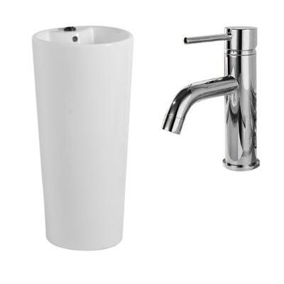 Samostatne stojace umývadlo Blanka + faucet Lungo Chrome