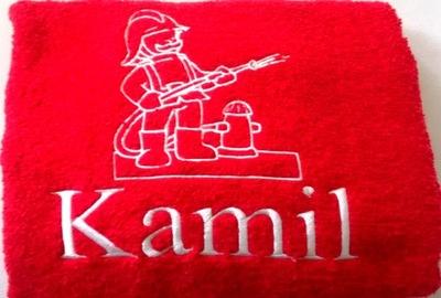 Prezent dla strażaka ręcznik z haftem 70x140