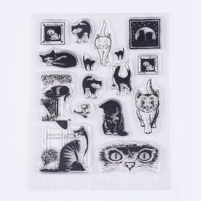 штамп силиконовый , кошки
