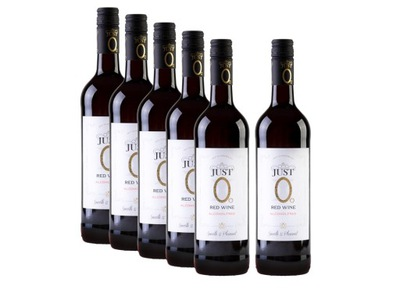 6 штук JUST Ноль вино напитки Полусладкое red