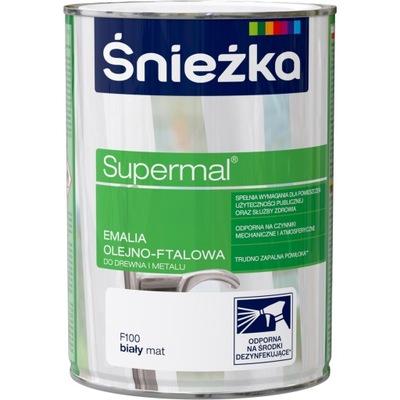 ŚNIEŻKA Supermal Olejno-ftalowa Biały Mat 0,8L
