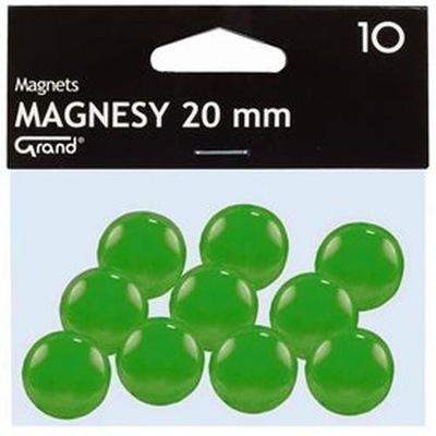 Magnesy 20 mm, 10 sztuk. KW Trade