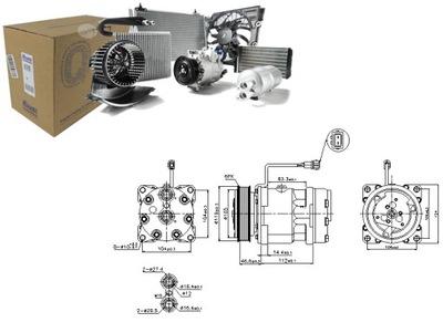 КОМПРЕССОР КОНДИЦИОНЕРА VW LT 28-46 II 2.5 TDI (2DC