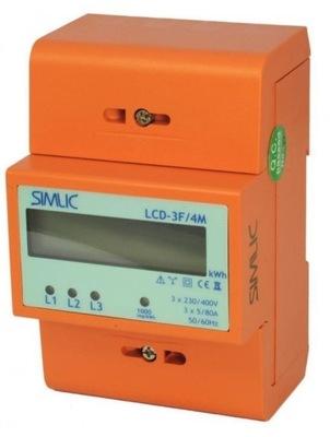 Licznik energii elektrycznej 3-fazowy LCD-3F/4M