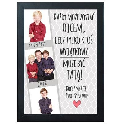 подарок ДЕНЬ ОТЦА отца постер + РАМКА A4