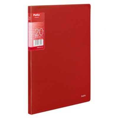 TECZKA A4 CLEAR BOOK 20 KOSZULEK PATIO CZERWONA