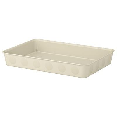 IKEA NOJIG Organizer, pudełko, beżowy 25x35x5 cm