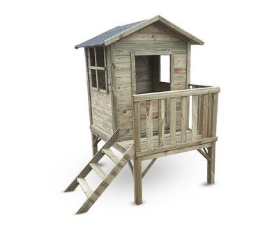 Domek zabaw drewniany Karol z tarasem