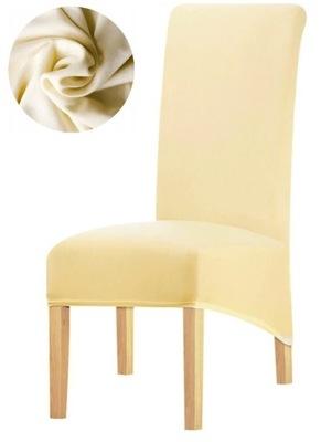 POKROWIEC na krzesło beżowy XL ELASTYCZNY