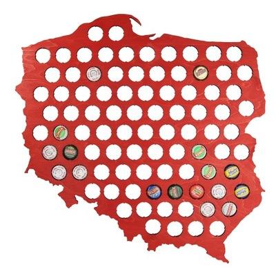 польский  Карта 30х30 см на Колпачки пиво Piwna