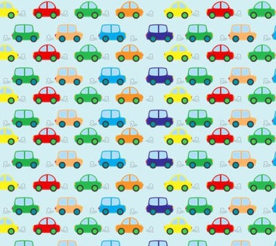 268cm 240cm dyha 6ks Farebné nástenné autá