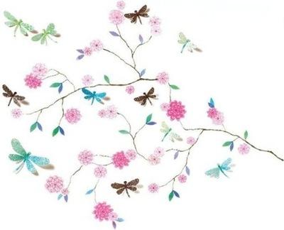 DJECO Nálepka na stenu 3D strom a vážky