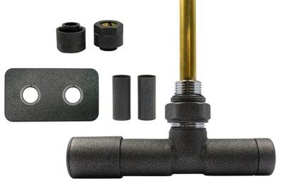 Regulačný ventil Unico 50 mm antracit + Cu spojky + Ľavé riešenie
