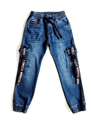 Spodnie chłopięce joggery - New Style 122/128