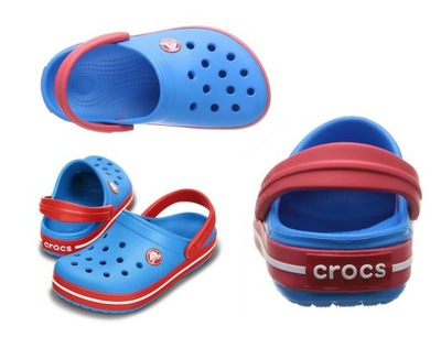 Crocs Crocband Red Czerwone klapki 33 34 J2