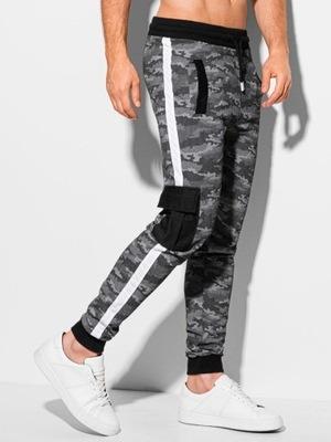 Modne spodnie męskie dresowe joggery