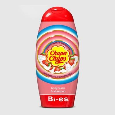 CHUPA CHUPS TRUSKAWKA żel & szampon 2w1 250 ml