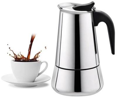 KAWIARKA INDUKCYJNA STALOWA 4 KAW 200 ml espresso