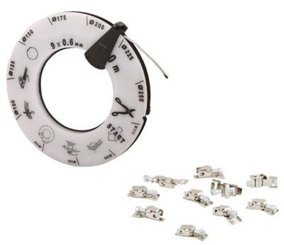 Sťahovacie pásky CMB 30m + svorky 50 ks.