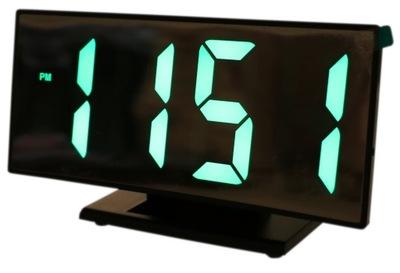 BUDZIK zegar cyfrowy LUSTRO LED Termometr 3053